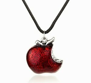 Snow White Poisoned Red Apple Evil Queen Pendant Necklace Gift Pouch UK