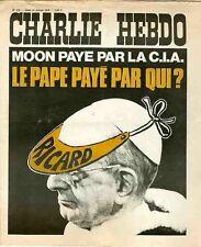 """""""CHARLIE HEBDO N°272 du 29/1/1976"""" LE PAPE PAYE PAR QUI ? RICARD"""