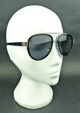 Men's Gucci Authentic GG0447S 002 56-18 145 Round Frame Sunglasses with Case