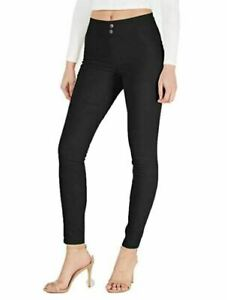 HUE Original Smoothing Denim Leggings Black Size Medium $44 - NWT