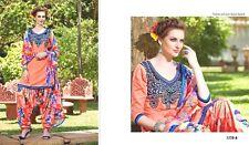 Bollywood Ethnic Cotto  Suit Patiala Salwar Kamzee Designer Cute Embr