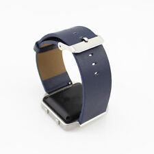 Genuine Leather Wristband Bracelet Strap Buckle + 2 Pins for Fitbit Blaze  Watch