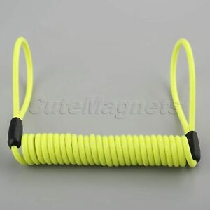 Universal Motorcycle Safety Lanyard Spring Coil Wire Reminder Rope Anti-theft