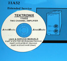 Tektronix 11A52 Amplifier: User, Service & Extended Service (Schematics)  3-Vol.