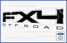 2011 Ford F150 FX4 Off Road Decals Stickers Black - Style FB Truck Bed Side