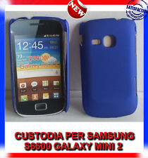 Pellicola + custodia back cover case BLU per SAMSUNG GALAXY MINI 2 S6500