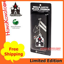 Sanrio Hello Kitty Black Wonder X Sony Ericsson Cell Phone Strap Screen Wiper