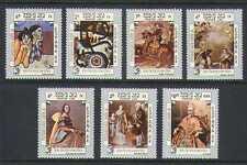 Laos 1984 Spanish Art/Espana '84/Horse 7v set (n21337)
