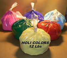 Holi color run powder 12 lbs  colors Red, Pink, Violet, Green, Yelow, & Blue