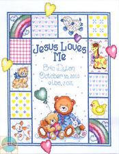 Cross Stitch Kit ~ Tobin A Bit of Heaven Teddy Bear Baby Birth Record #T21730