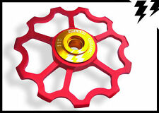 "1x MT ZOOM RED Ultralight Ceramic Jockey ""Speed"" Wheel / Derailleur Pulley 5.6g!"