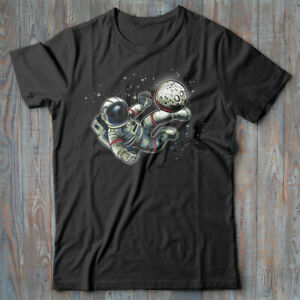 Graphic T-shirt - Astronaut Soccer - space NASA geek gift - Tee shirt for men