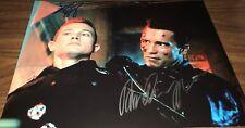 Arnold Schwarzenegger & Robert Patrick Terminator 2 Signed 11x14 Photo COA Proof