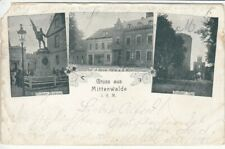 Ak  Gruss aus MITTENWALDE / Mark  1900 ( Lückenfüller )