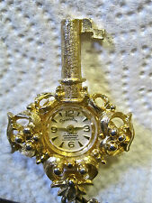 Old, Ornate wind up pendant watch by Princeton, 17 Jewels Swiss made working