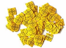 Yellow Reflective Targets / Labels (100 No) - 20mm x 20mm ! Total Station