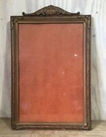 Vintage Antique Wood Gesso Picture Art Frame Gold Brown Arch Top