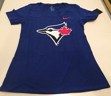 Toronto Blue Jays MLB Baseball Ladies Women's Cotton Scoop Logo T Shirt Small