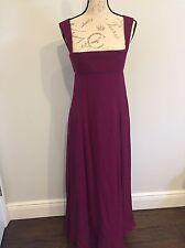 Yves Saint Laurent Authentic Edition Soir Purple Silk Evening Gown Size 38 Eur