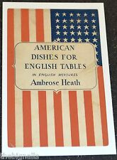 AMERICAN DISHES FOR ENGLISH TABLES postcard new