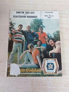 Vintage CFL Illustrated Football Magazine Vol 2 #8 Sask Roughriders Used 1971