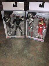 Mighty Morphin Power Rangers Legacy Armored Red Ranger & Psycho Black Ranger New