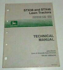 John Deere STX38 STX46 Lawn Garden Tractor Technical Service Manual JD Original!