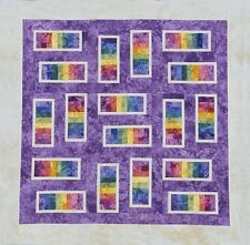 Starr Designs Quilt Kit Steppin' Stones Purple King Hand Dyed Cotton Fabrics