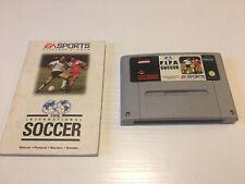 FIFA International Soccer Super Nintendo PAL SNES cartouche (et mauvais Manuel!)