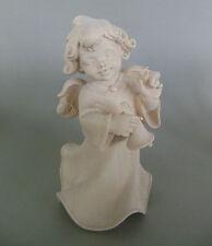 Engel mit Glocke ca. 20 cm hoch, Holz geschnitzt natur Sonderpreis Maserung