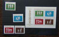 Bahamas 1984 Olympic Games Los Angeles set & Miniature sheet MNH