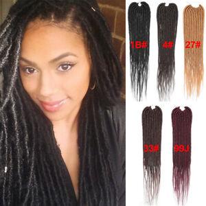 "20"" Goddess Faux Locs Afro Crochet Braids Dreadlocks Synthetic Hair Extensions"