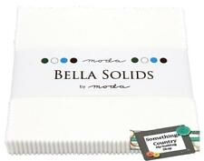 Charm Pack BELLA WHITE Patchwork Quilt 5 inch Squares Quilting Fabric NEW