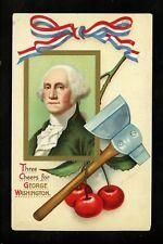 Patriotic postcard George Washington Artist Signed Clapsaddle embossed IA 16209