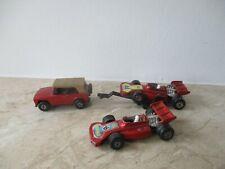 altes MATCHBOX SUPERFAST FIELD CAR (A) mit TRAILER  und 2x RACING CAR England
