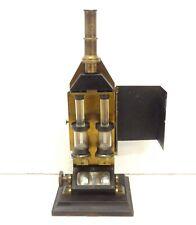 ANTIQUE 1870 DUBOSCQ PARIS MICROSCOPE COLORIMETER COMPLETE SCIENTIFIC INSTRUMENT