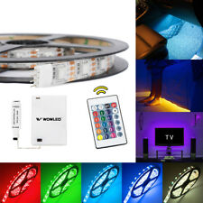 LED Light Strip Battery Powered Waterproof Remote RGB Color Change Home Decor 2m