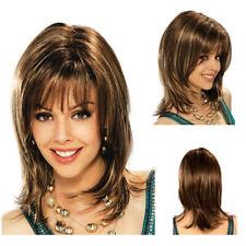 Popular Fashion Medium Bangs Full Wigs High Temperature Fiber Women Hairpieces