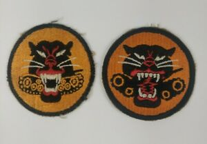 WW2 WWII US Army Tank Destroyer Patch Lot of 2 Variations 4 & 8 Wheel