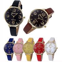 Women Casual Checkers Faux Leather Quartz Analog Wrist Watch