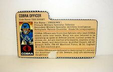 VINTAGE COBRA OFFICER FILE CARD G.I. Joe Action Figure GREAT SHAPE 1982