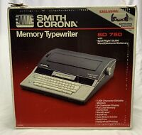 Smith Corona Memory Typewriter W/Spell-Right 50,000 Word Dictionary SD 750
