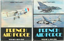 PICTORIAL HISTORY OF THE FRENCH AIR FORCE 1909-1974 2 TOMES BREGUET SPAD MIRAGE
