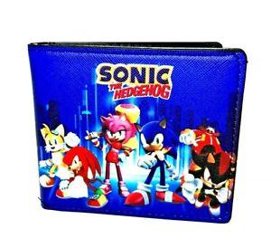 Sonic The Hedgehog Characters Print Design Bi-Fold Wallet, High Density Canvas.