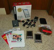 Toshiba e335 Handheld Pocket PC PDA (X2) w/ Original Box & Accessories - TESTED