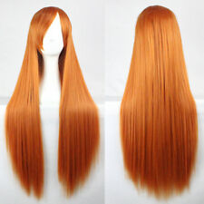 100cm Long Straight Cosplay Wig 18 Colors heat resistant For Women Full Wigs