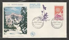 KAPPYSSTAMPS 5923 FRANCE FDC MONT DORE OLYMPICS 1961