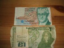 2 X OLD IRISH BANKNOTES