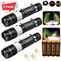 90000 Lumens T6 LED USB Rechargeable 18650 Zoomable Flashlight Torch Lamp Light