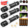 Police 90000LM T6 LED 18650 Super Bright 3Mode USB Rechargeable Flashlight Torch